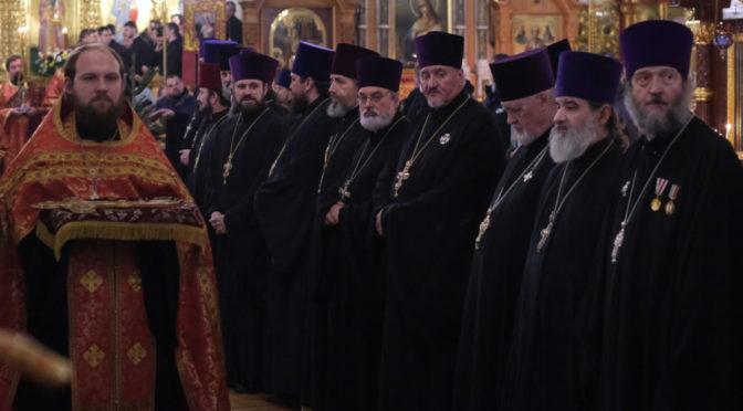 Настоятель поздравил митрополита Исидора с днем тезоименитства